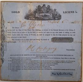 Gold License issued to George Elliot