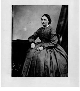 Photograph of woman seated
