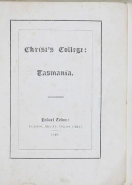 College Prospectus and Library Catalogue