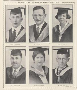 Recipients of Degrees at Commemoration