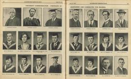 Professors and candidates for degrees 1923